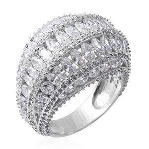 Simulated Diamond Sterling Silver Ring size 7.0